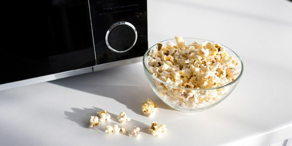 popcorn in a microwave
