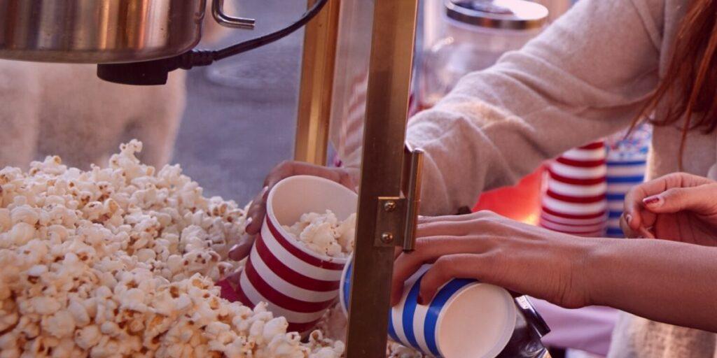 wedding rental popcorn machine