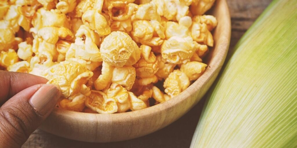 healthy portion sizes to prevent gas when eating popcorn