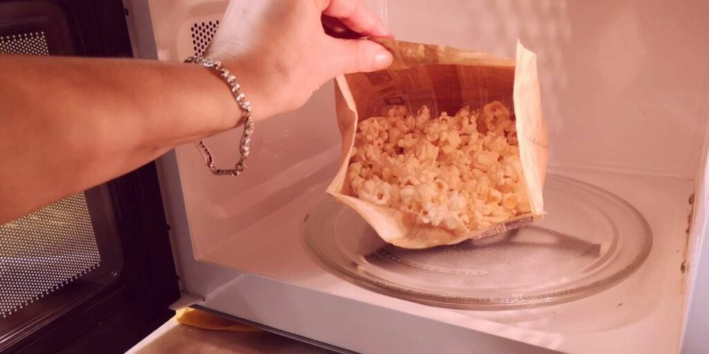 microwave popcorn with unpopped kernals