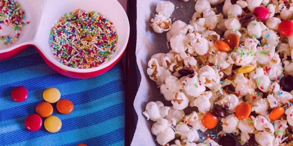 unicorn popcorn mnms